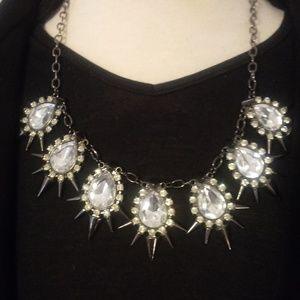 Jewelry - Rhinestone Spike Crystal Necklace